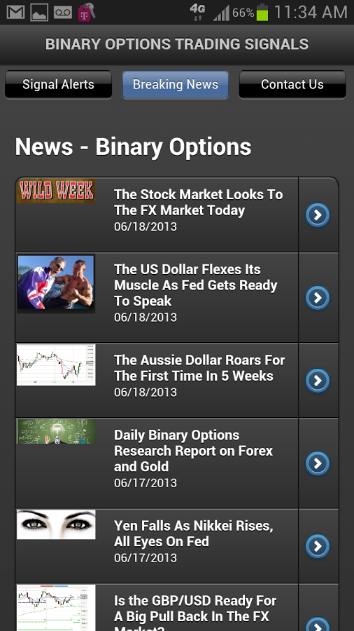 Binary options app review