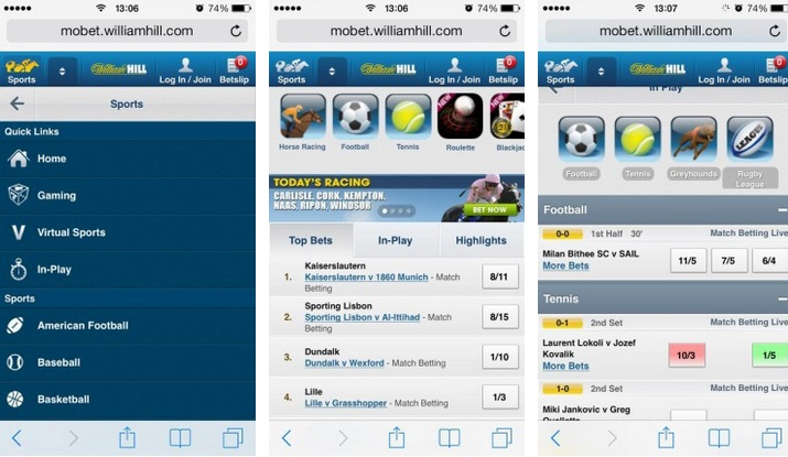 william hill phone betting