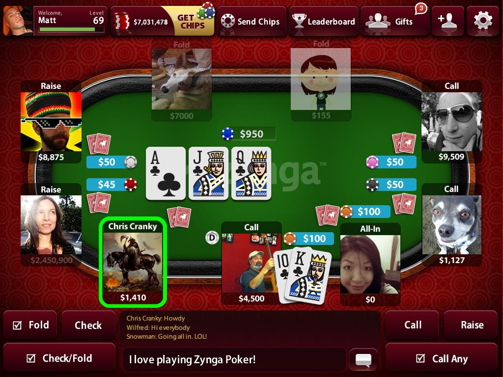 Zynga Poker for ipad
