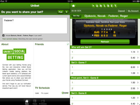 screenshot Unibet Social Betting