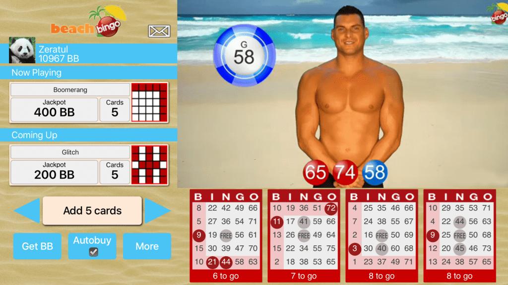Boom bingo screenshot Samnsung phone