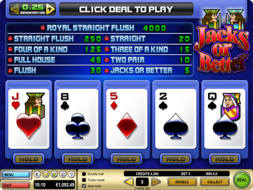 Jacks or better poker app for phones and tablets