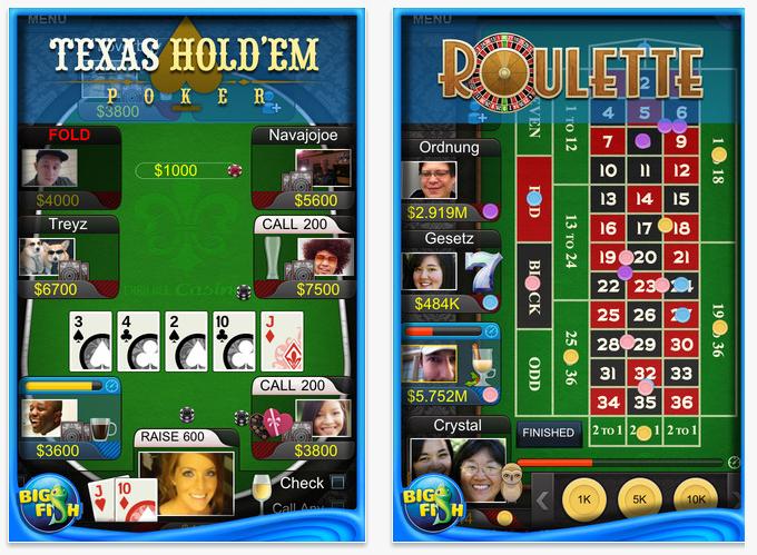 Big Fish casino on iPhone