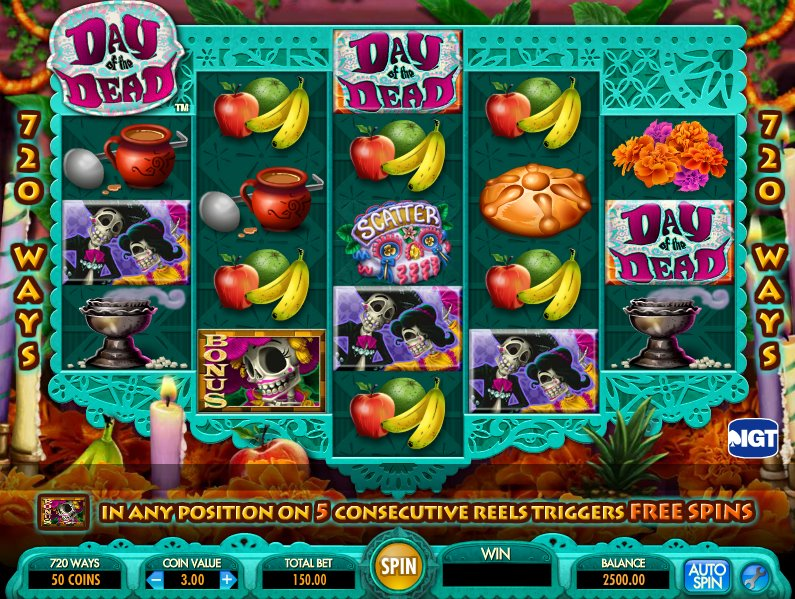 Day of the Dead slots app