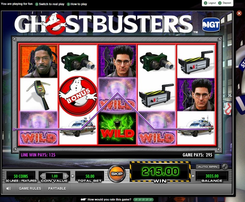 Ghostbusters Slot Machine App
