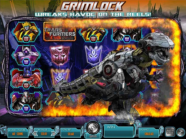 Transformers slots screenshot of Grimlock