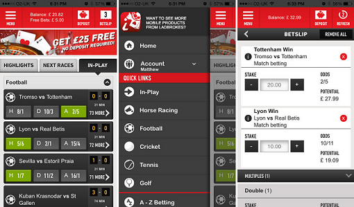 Ladbrokes Sportsbook iphone