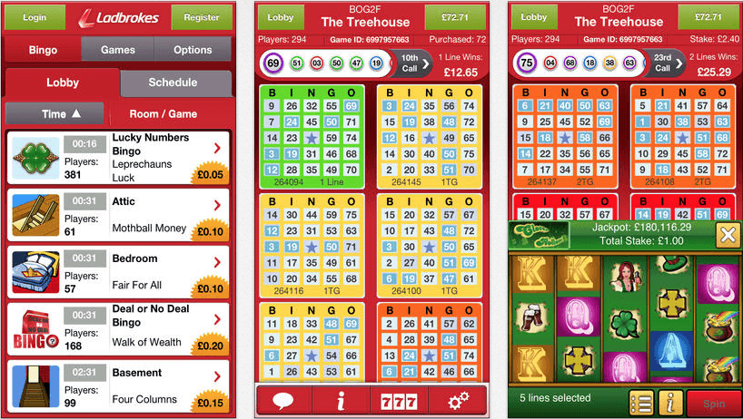 Ladbrokes bingo app ios and android