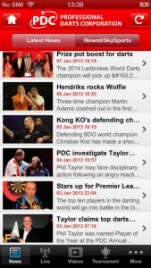 PDC Darts iPhone review