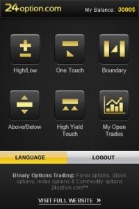 Screenshot 24option app