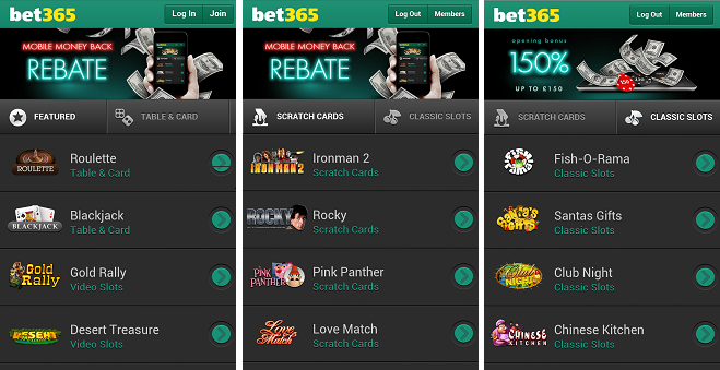 bet365 mobile casino app