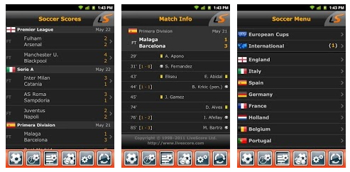 livescore iphone