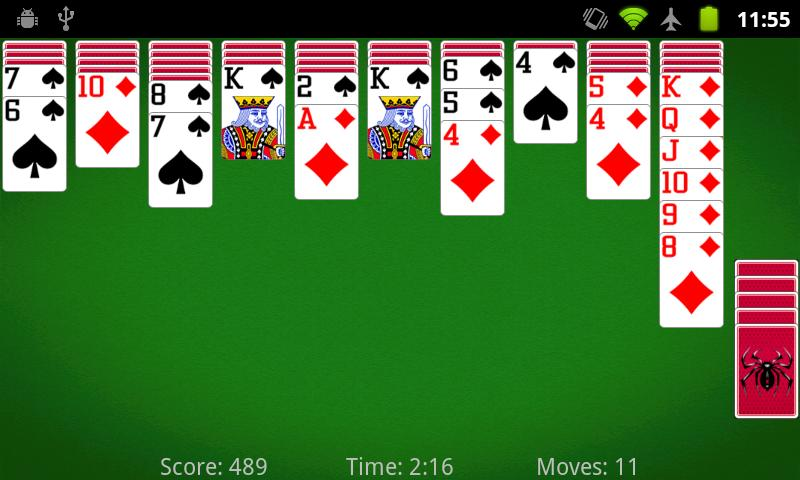 Spider Solitaire by MobilityWare for iPad