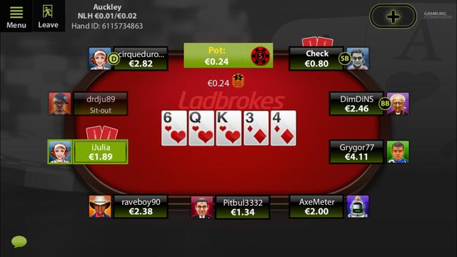 Ladbrokes Poker app iOS version