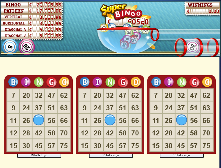 Bingo app Gamepoint screenshot