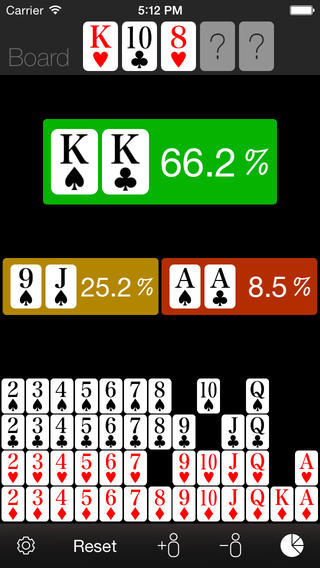 Best poker odds calculator iphone app how to set up roulette
